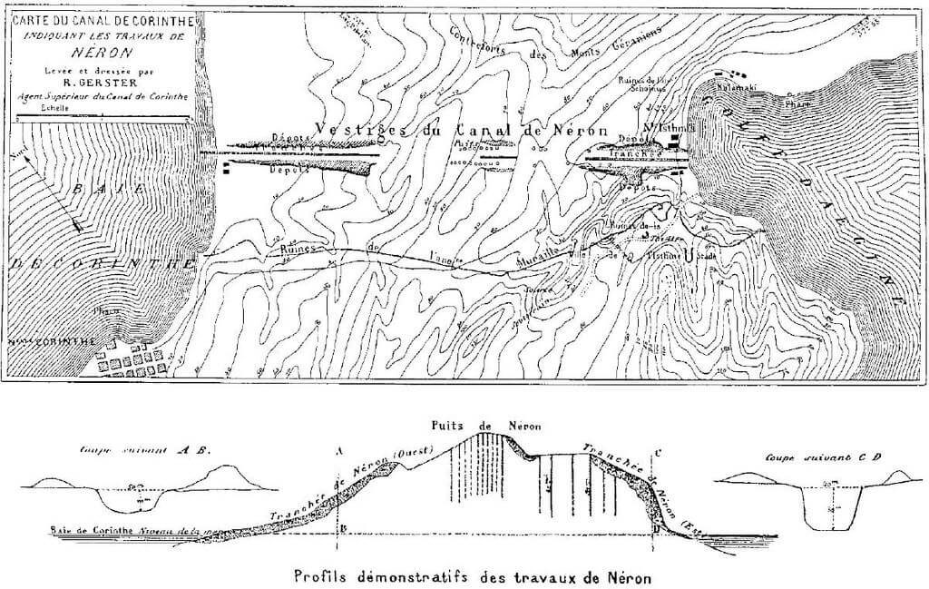 1024px Remains of Neros Isthmus Canal in 1881