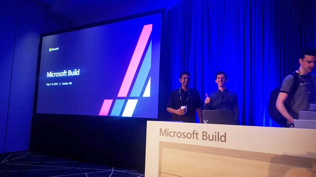 Hanhaa at Microsoft build event