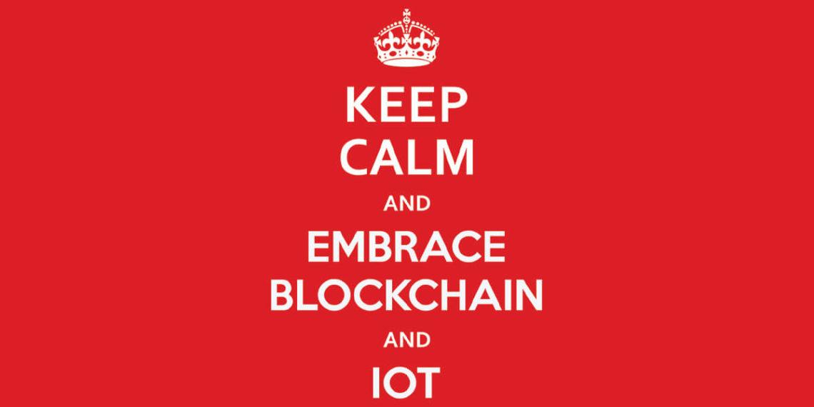 Keep Calm Embrace Blockchain IOT Poster 3