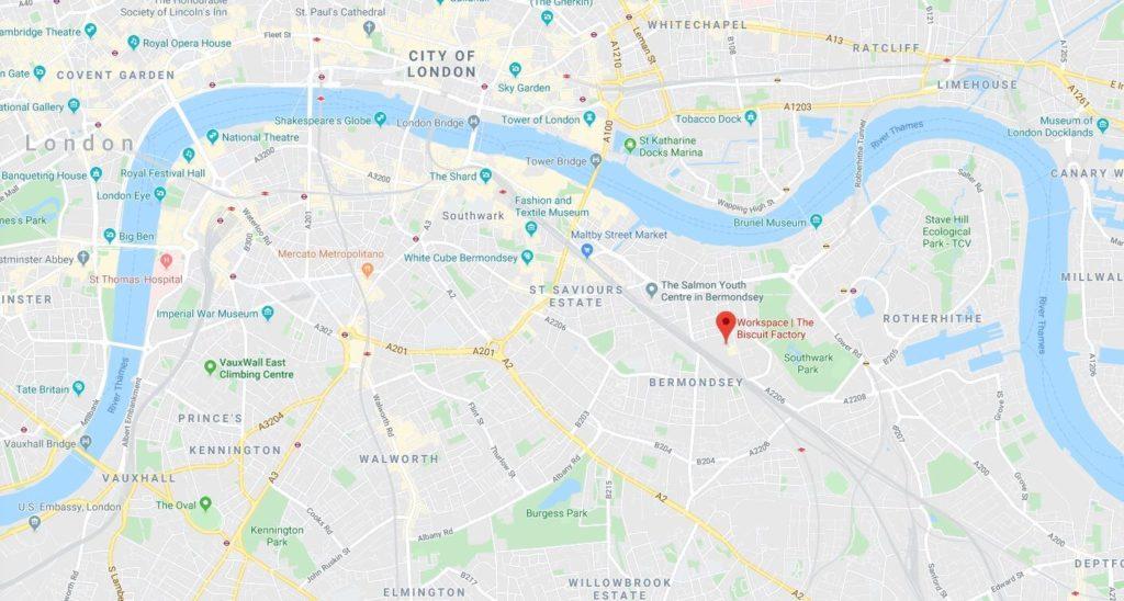 New office location google maps