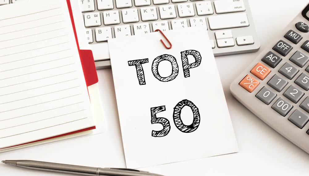 top 50 header