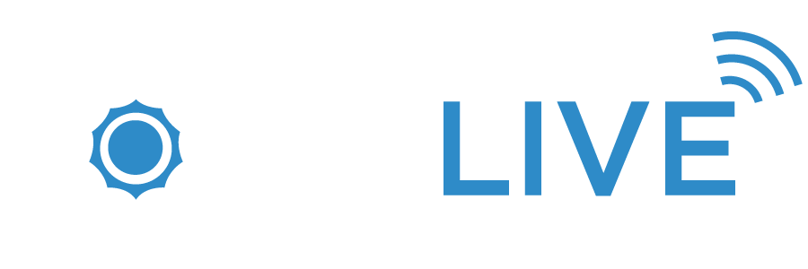 Solarlive logo light with signal